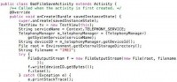 Saving a file insecurely - code sample