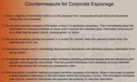 Tackling corporate espionage