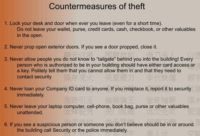 Theft prevention tips