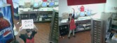 Security cameras in the pizza place
