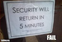 Security fail