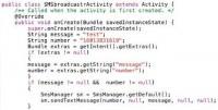 Code sample for SMSbroadcastr
