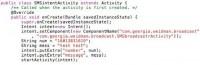 SMSintent code