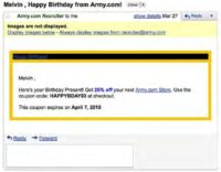 Birthday greeting from Army.com