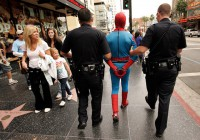 A pretty typical scene to behold on Hollywood Boulevard