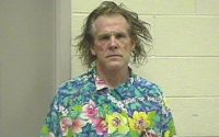 Infamous mugshot of Nick Nolte