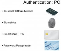 Authentication on conventional computers