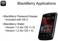 BlackBerry password management apps