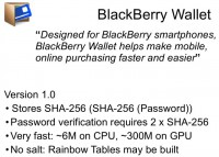 BlackBerry Wallet v1.0 in a nutshell
