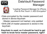 DataVault Password Manager features