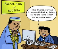 Nigerian scams: help the Prince!