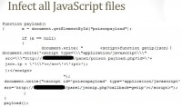 Running payload to infect JavaScript files
