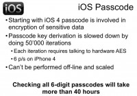 Passcode - good security measure for iOS