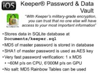 Password & Data Vault details
