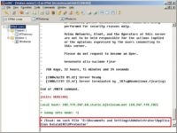Virus infecting mIRC users