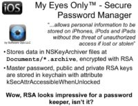 My Eyes Only™ - Secure Password Manager provides fairly good security