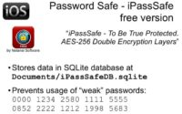 Password Safe – iPassSafe Free features