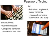 Typing a password: PC vs. smartphone