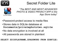Secret Folder Lite - no data encryption