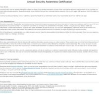 In-house security awareness certification