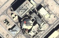 Google Maps image of the Bushehr nuclear plant in Iran