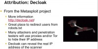 Decloak project
