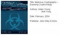 'Malicious Cryptography - Exposing Cryptovirology' book