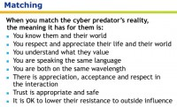 Matching cyber predator's reality