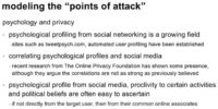 Role of psychology and privacy aspects