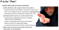 Exploit negative behavioral patterns