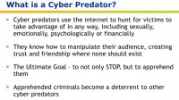 Insight into the concept of cyber predator