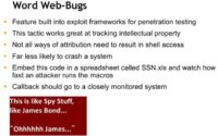 Key features of Word web-bugs