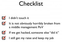 Checklist of an engineer