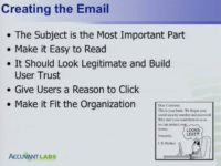 Tips for creating a phishing email