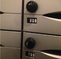 Mailboxes protected by number combination locks