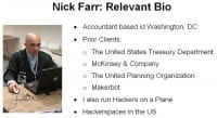 Nick Farr's biographic facts