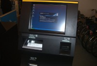Passport verification machine at the airport