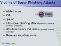 They all fell victim to spear phishing