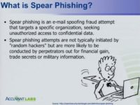 Defining spear phishing