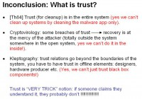 Trust from the crypto perspective