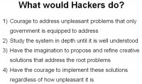 Hackers would treat the governmental network differently