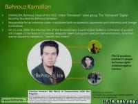 Some profile details for Behrouz Kamalian