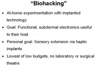 Goals of biohacking in a nutshell