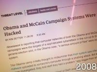 Campaigns for both candidates underwent pretty severe malware attacks