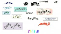 Different examples of CAPTCHAs