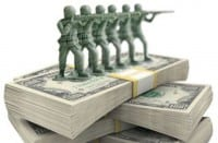 Defense spending is enormous and not quite justified