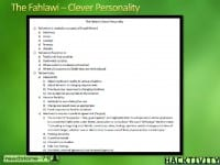 Traits of the Fahlawi type of personality