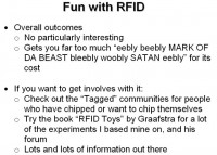 RFID: overall outcomes
