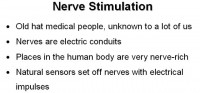 Common knowledge on nerve stimulation