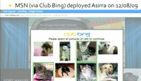 Asirra CAPTCHA on Club Bing as of 2009